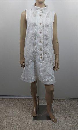 Chanel - Vestido off white paetes