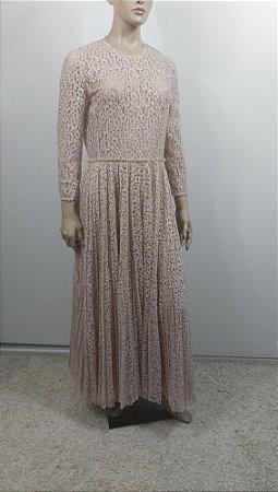 Christian Dior-  vestido longo renda nude / SS