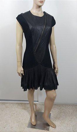 Catherine Malandrino - Vestido curto couro