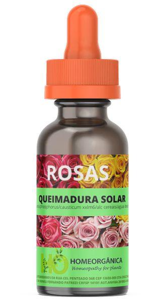 ROSAS - QUEIMADURA SOLAR - Indicado para plantas que sofrem com o excesso de sol ou que tiveram lesões por insolação 30ml