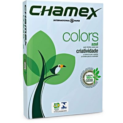 PAPEL A4 75G 210X297 C/500FLS CHAMEX AZL