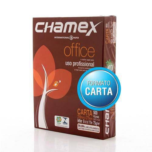 PAPEL CARTA 75G 216X279 10X500FLS CHAMEX