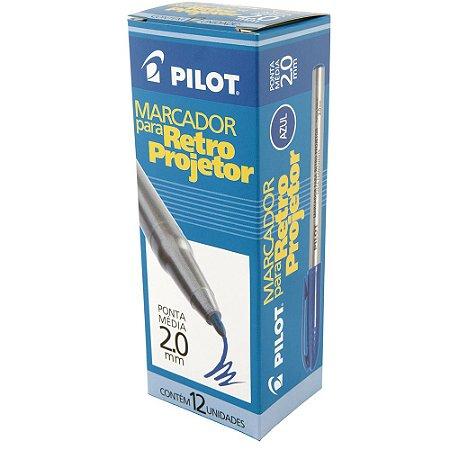 CANETA RETROPROJETOR PILOT 2MM PT C/12