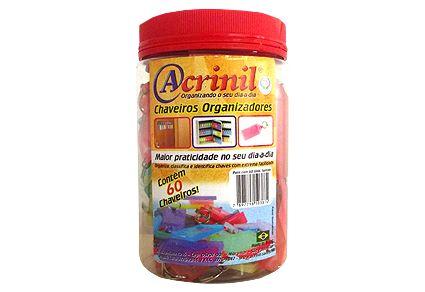 CHAVEIRO COLORIDO ACRINIL C/60UND