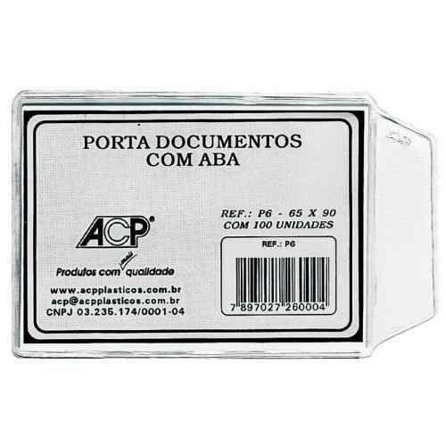 PORTA DOCUMENTO C/ABA 65X90 C/100 ACP