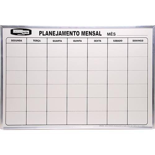 QUADRO DE PLANEJAMENTO MENSAL 90X60