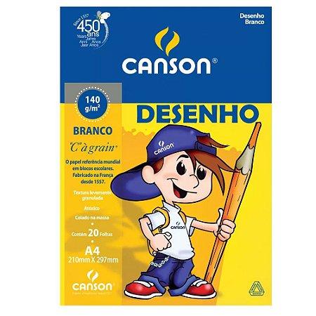 BLOCO DESENHO A4 140G BRANCO 20FL CANSON