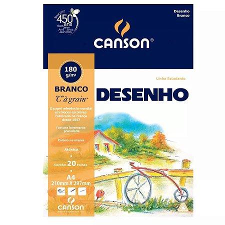 BLOCO DESENHO A4 140GRS BRANCO C/20FLS