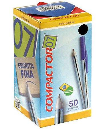 CANETA ESF COMPACTOR 0,7MM AZUL