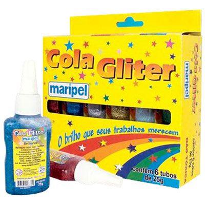 COLA C/GLITER 25GRS C/06 CORES MARIPEL