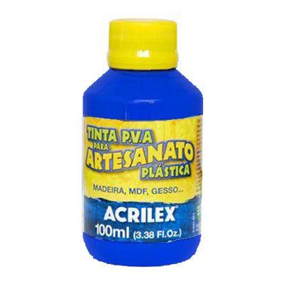 TINTA PVA PLASTICA 100ML ACRILEX AZUL