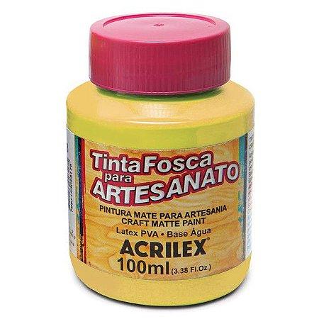TINTA PVA PLASTICA FOSCO 100ML AMARELO