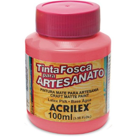TINTA PVA PLASTICA FOSCO 100ML ROSA