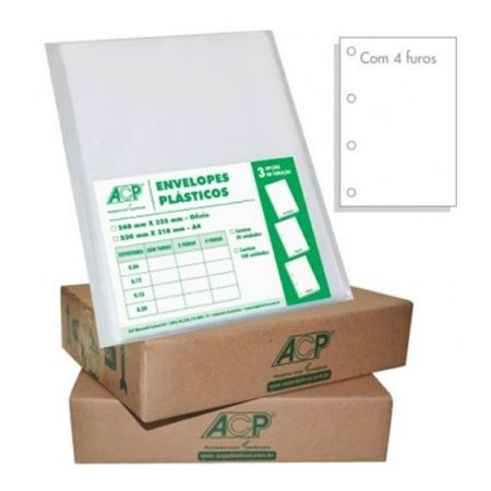 ENVELOPE PLAST 4FUROS OF C/300 0,20 ACP