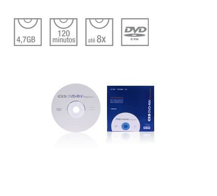 DVD-RW REGRAVAVEL CIS SLIM
