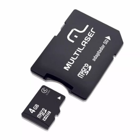 MEMORY CARD MICRO SD 4GB C/ADP MULTILASER