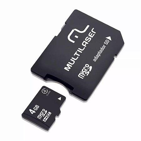 MEMORY CARD MICRO SD 4GB C/ADP MULTILASER