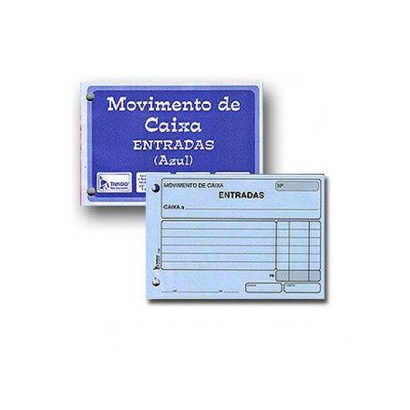 BLOCO MOVIMENTO CAIXA ENTRADA AZUL 95FLS