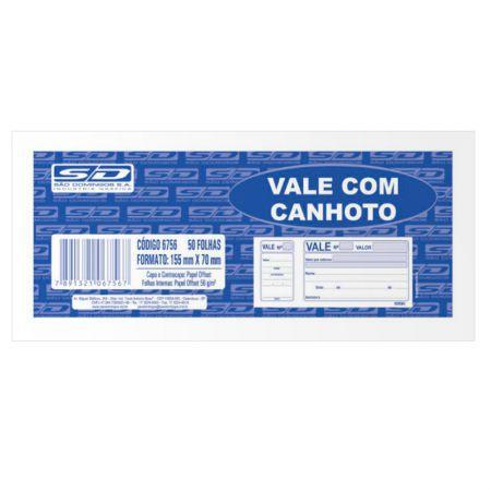 BLOCO VALE C/CANHOTO C/50FLS SAO DOMINGOS