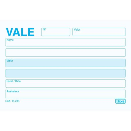 BLOCO VALE S/CANHOTO 50FLS SIMPLES