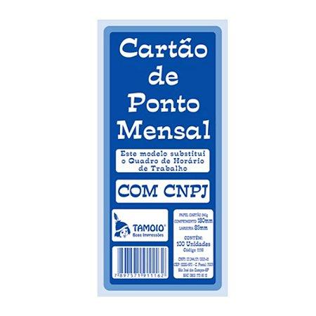 CARTAO DE PONTO PALHA C/100 TAMOIO
