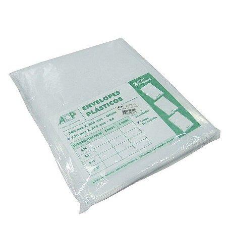 ENVELOPE PLAST 4FUROS A4 C/100 0,15 ACP