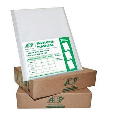 ENVELOPE PLAST 4FUROS A4 C/400 0,15 ACP