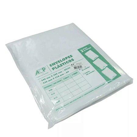 ENVELOPE PLAST 4FUROS OF C/50 0,15  ACP