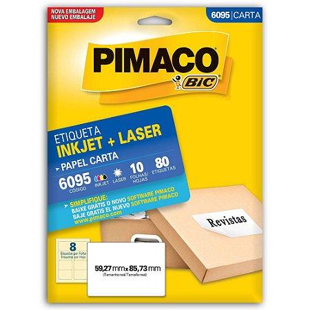 ETIQUETA 6095 59X85 C/80 PIMACO