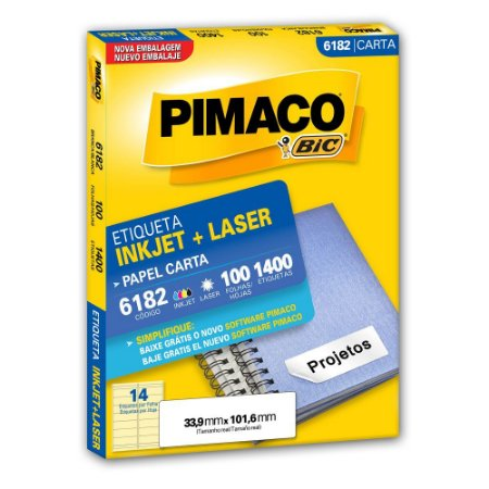 ETIQUETA 6182 33X101 C/1400 PIMACO