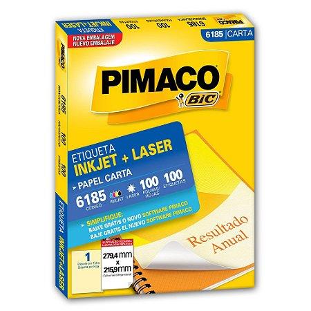 ETIQUETA 6185 279X215 C/100 PIMACO