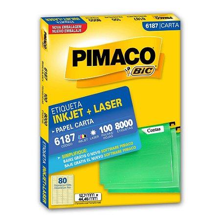 ETIQUETA 6187 12X44 C/8000 PIMACO