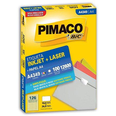 ETIQUETA A4349 15X26 C/12600 PIMACO