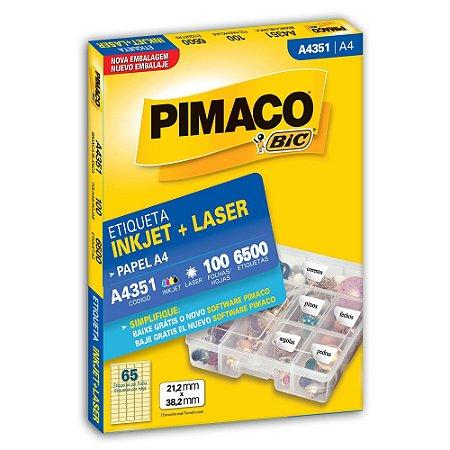 ETIQUETA A4351 21X38 C/6500 PIMACO