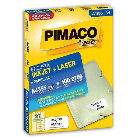 ETIQUETA A4355 31X63 C/2700 PIMACO