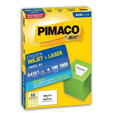 ETIQUETA A4361 46X63 C/1800 PIMACO