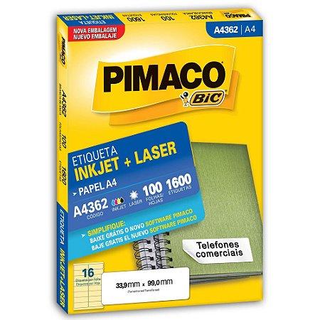 ETIQUETA A4362 33X99 C/1600 PIMACO