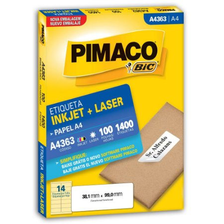 ETIQUETA A4363 38X99 C/1400 PIMACO