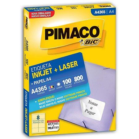 ETIQUETA A4365 67X99 C/800 PIMACO