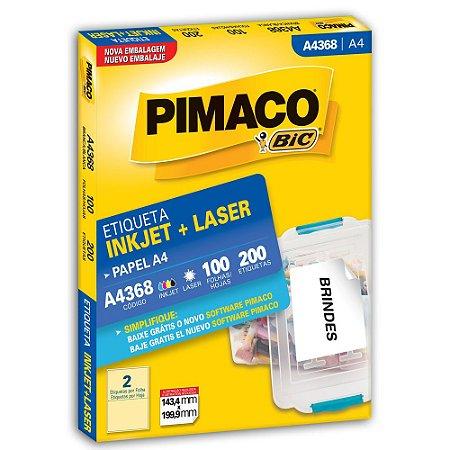 ETIQUETA A4368 143X199 C/200 PIMACO