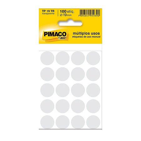 ETIQUETA TP-19 C/100 CRISTAL PIMACO