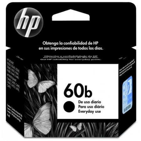 CARTUCHO HP 60 CC636WB C/4,5ML PRETO EVERYDAY