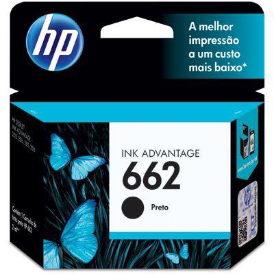 CARTUCHO HP 662 CZ103AB PRETO P/120PGS