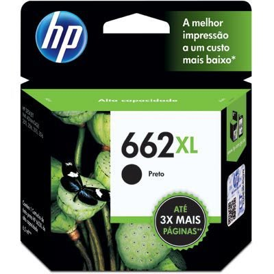 CARTUCHO HP 662XL CZ105AB PRETO C/6,5ML