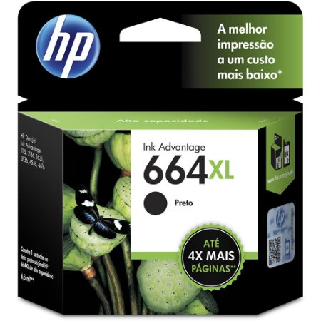 CARTUCHO HP 664XL F6V31AB C/8ML PRETO