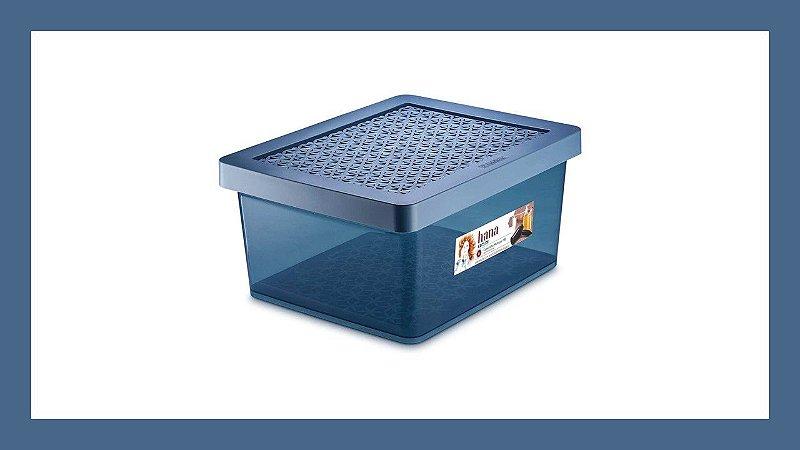 CAIXA ORGANIZADORA PLASTICA 18L ORDENE AZUL OR86503