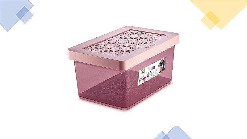 CAIXA ORGANIZADORA PLASTICA 8,5L ORDENE ROSA OR85502