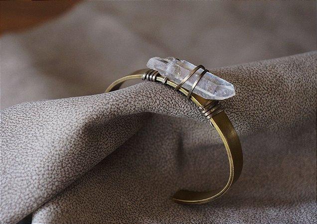Bracelete Latão Cristal Aramado