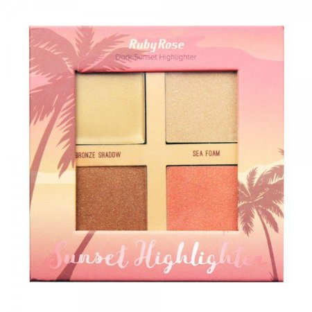 Iluminador Paleta Sunset Highlighter Dark Ruby Rose