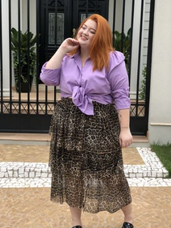 Camisa Monique Lilás